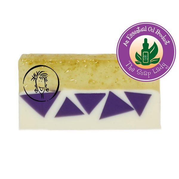 Oatmeal Milk and Honey with Lavender Soap Slice